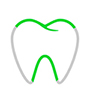 Zahn mit Grüne Linien