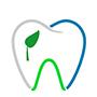 Zahn mit Blau Linien