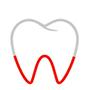 Zahn mit Rot Linien