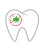 Zahn mit Bakterie