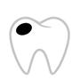 Zahn mit Karien