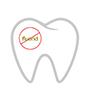 Zahn ohne Fluor