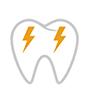 Zahn mit Blitzer